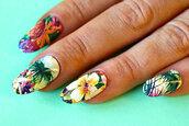 nail accessories,tropical nails,floral,beach print,palm tree print,nail art,nail decals,nail stickers,nail wraps,nails,nail polish,nail covers,hipster nails,holidays,beach,hawaiian