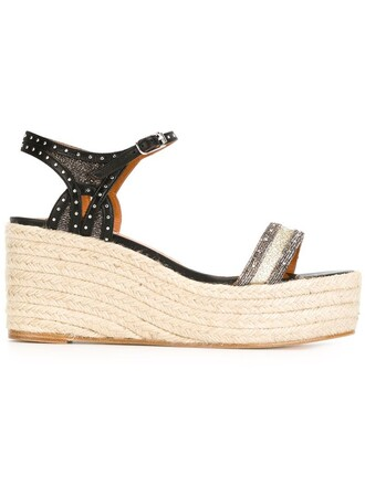 sandals espadrilles wedge sandals metallic shoes