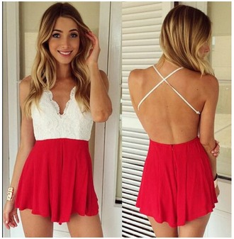 jumpsuit nifty v-neck halter back straps cross short jumpsuit