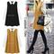 Women sweet color block long sleeves cambric peter pan collar flowy shift dress | ebay