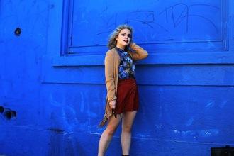 broke hell blogger skirt zara button up skirt
