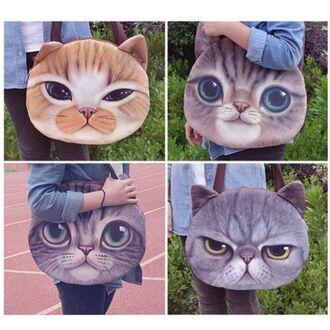 bag grumpy cat cat bag cute kawaii cats