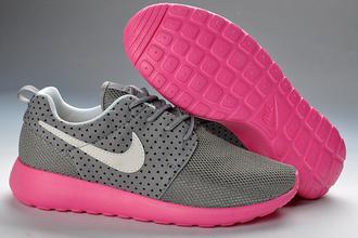shoes nike roshe run mesh pink