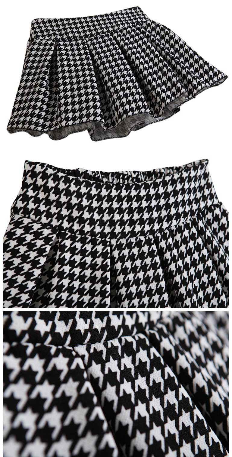 Retro Swallow Gird Pleated Skirt [FMCC0284] - PersunMall.com