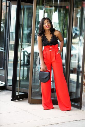 jadore-fashion blogger pants tank top shoes bag make-up sunglasses red pants camisole summer outfits