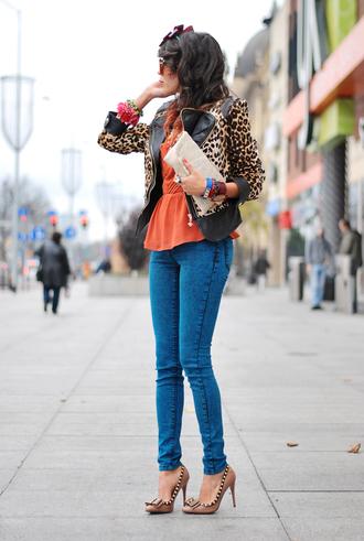 macademian girl jacket t-shirt pants bag shoes sunglasses jewels