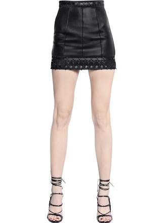 skirt mini skirt mini leather black