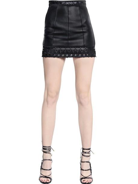 Dsquared2 skirt mini skirt mini leather black