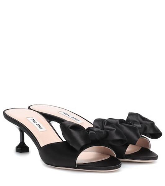 Miu Miu Satin sandals in black