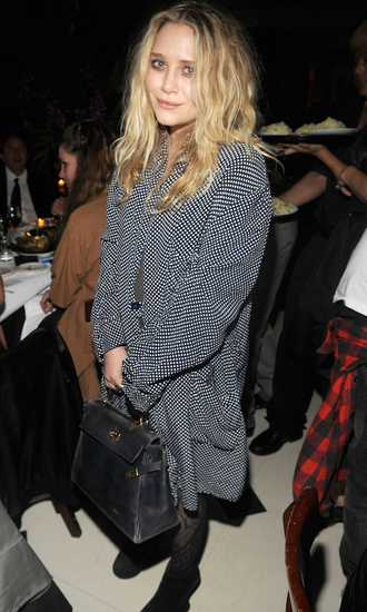 dress olsen sisters mary kate olsen polka dots dress
