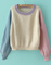 Beige long sleeve knit crop loose sweater