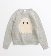 sweater,pale grunge,pink,light pink,grey,cute,knitted sweater,pacman