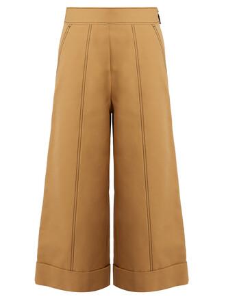 cropped beige pants
