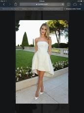 strapless,mini,hi-lo,midi,flare,rosie huntington whitely dress,classic,elegant,chic,off-white,rosie huntington-whiteley,sophisticated,sophisticated style,simplicity