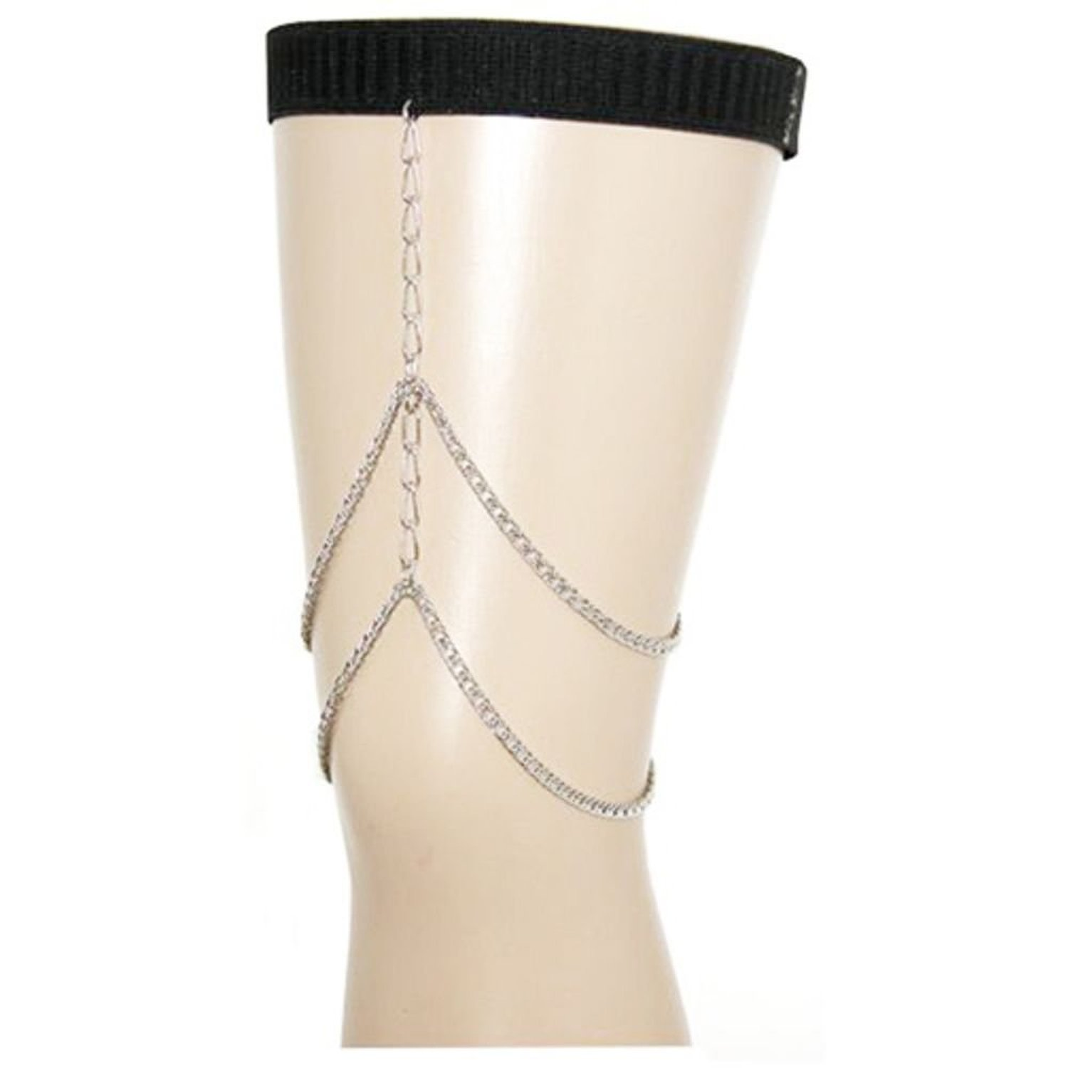 Amazon.com: adjustable harness chain leg jewelry on elastic band, ours alone, made in usa!, 19