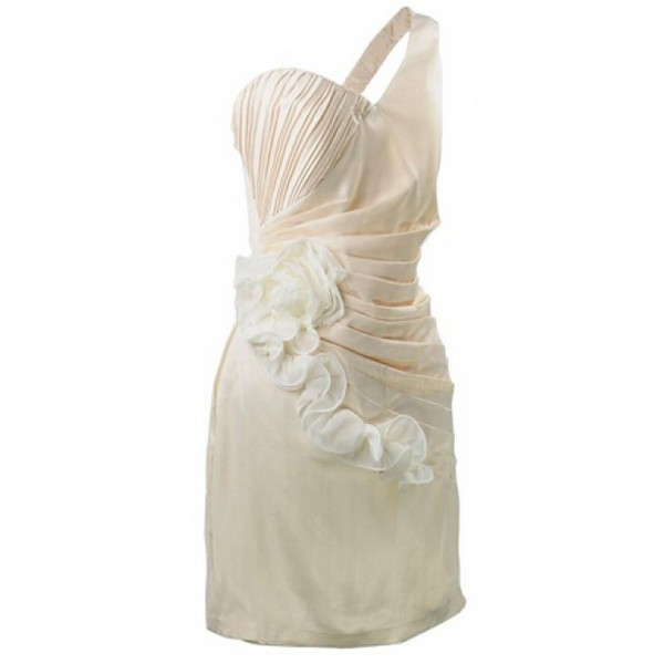 3d flower one-shoulder
