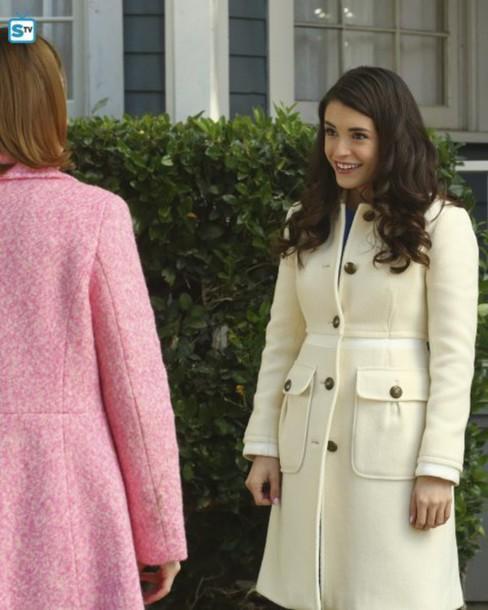 top fashion uk availability price coat, series, winter coat, white jacket, cream, celebrity ...