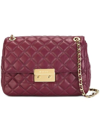 women quilted bag shoulder bag purple pink