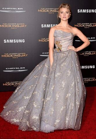 dress gown prom dress wedding dress strapless natalie dormer the hunger games