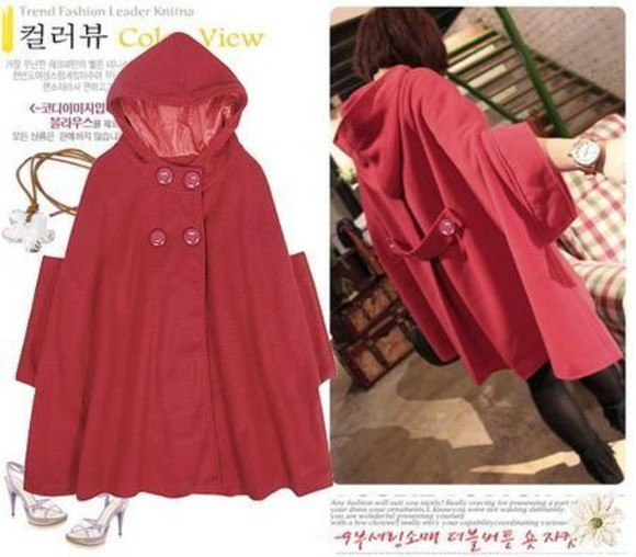 cape coat red