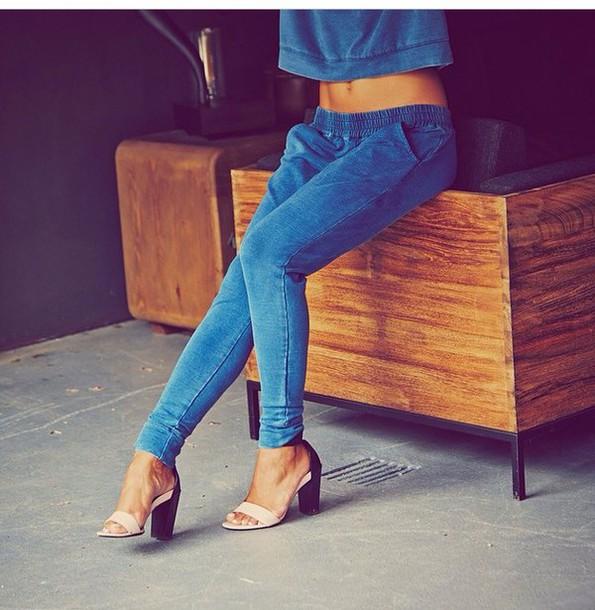 pants shoes heels shirt
