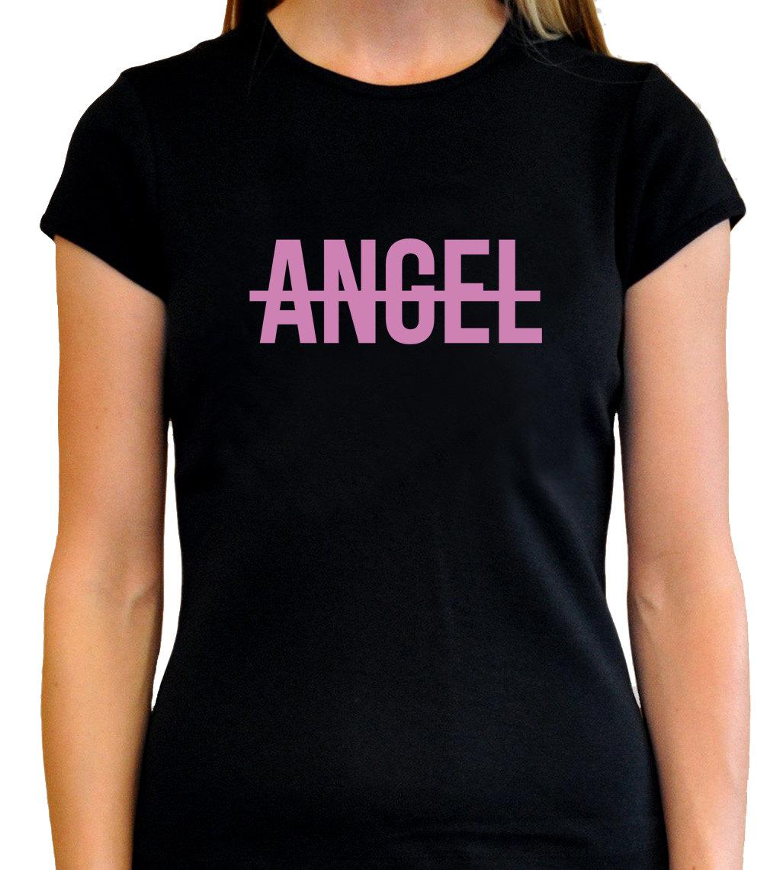 NO ANGEL - Beyonce Best t-shirts black Original Women Pink