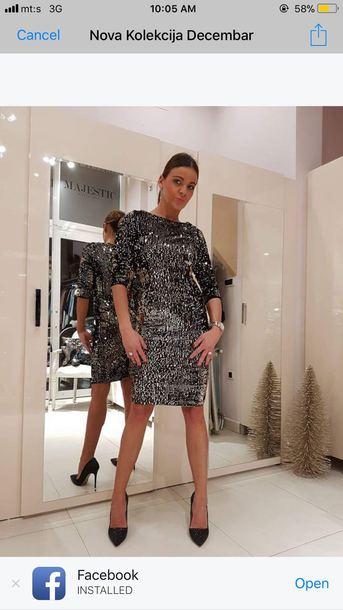 dress gliter dresses