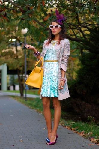 macademian girl coat dress bag belt shoes jewels sunglasses