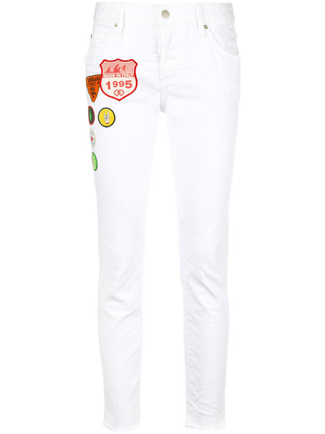 jeans girl cool women spandex white cotton