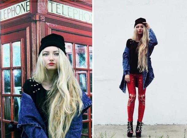 pants romwe leggings red romwe leggings leggings coca cola