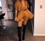 jumpsuit,copper,orange,orange dress