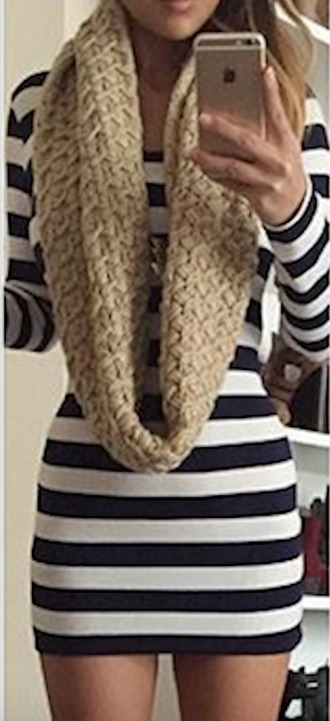 dress tumblr winter outfits fall outfits cute stripes instagram long sleeves