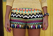 aztec,tribal pattern,shorts,tribal short,hippie shorts pattern zig zag cute