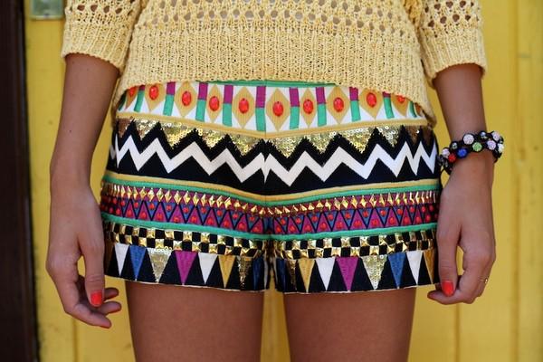 aztec tribal pattern shorts tribal short tribal pattern hippie shorts pattern zig zag cute