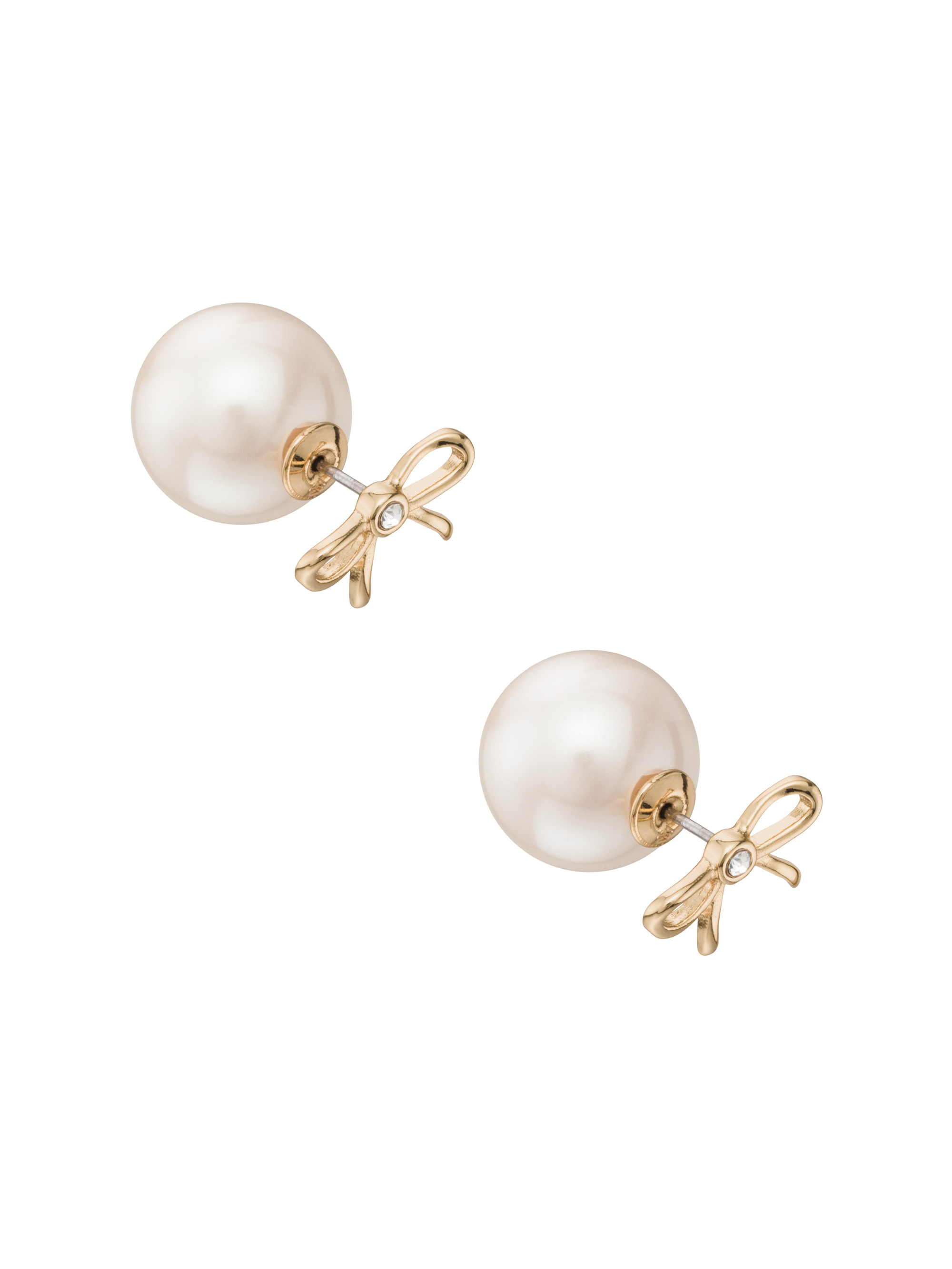 york spade faux for org pearl fake new in stud secret garden earrings kate