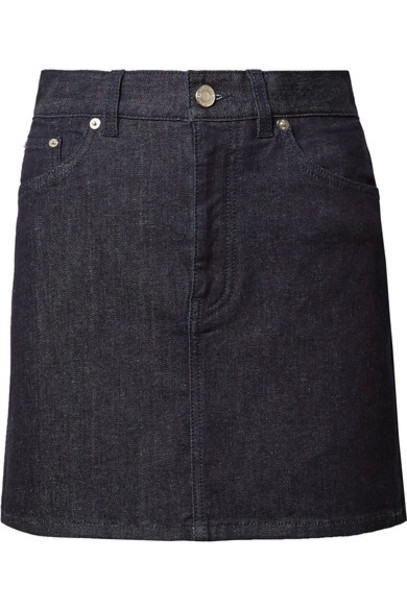skirt mini skirt denim mini dark