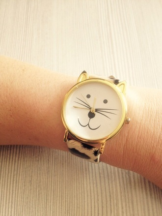 jewels funny cat watch leopard