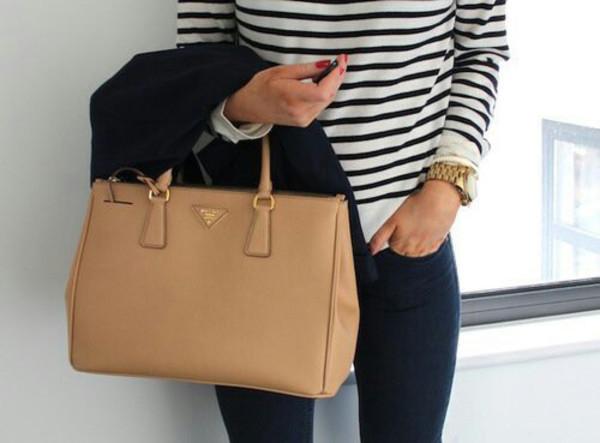Prada Saffiano Executive Tote Bag, Beige (Sabbia)