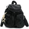 See by chloé - dot pattern mini backpack - women - cotton/polyester/pvc - one size, black, cotton/polyester/pvc