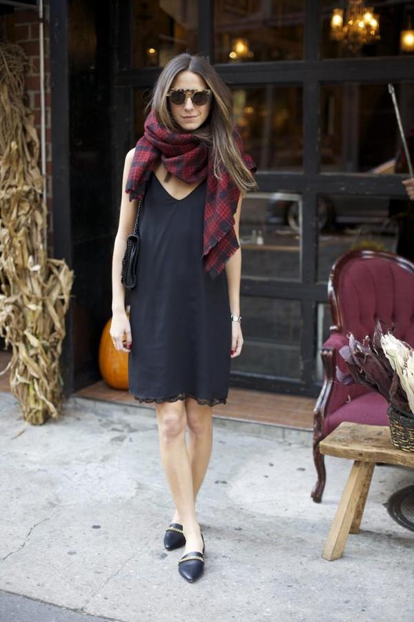 something navy dress scarf shoes sunglasses bag