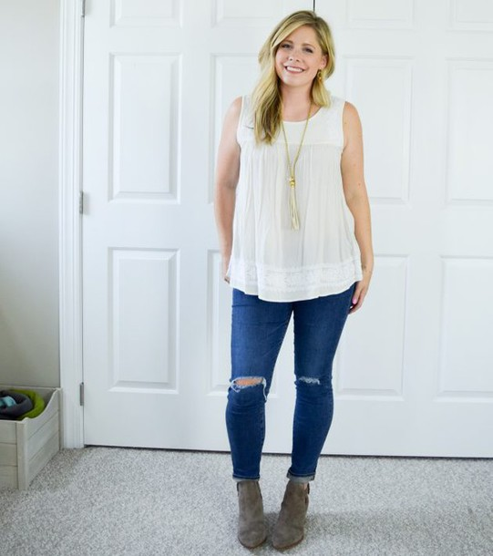Shoes: thesmallthings, blogger, jewels, white top, skinny jeans ...
