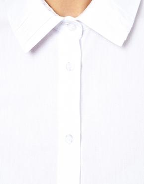 ASOS | ASOS Shirt With Pleat Detail Collar And Cuff at ASOS