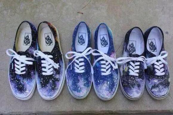 shoes vans vans of the wall galaxy print tumblr outfit tumblr tumblr fashion
