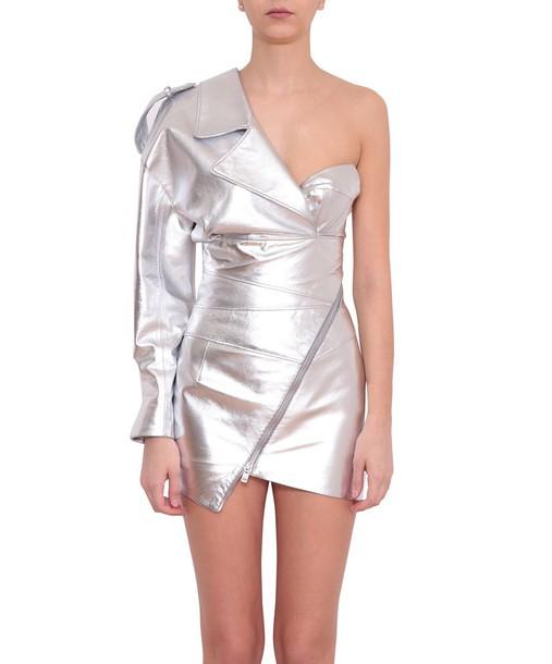 alexandre vauthier dress leather dress leather
