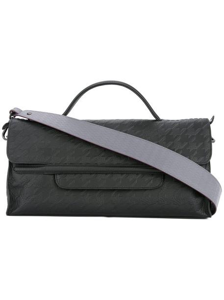 Zanellato style women leather black houndstooth bag
