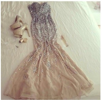 dress prom dress long prom dress sparkle dress gold jewels bling prom gown evening dress ball gown