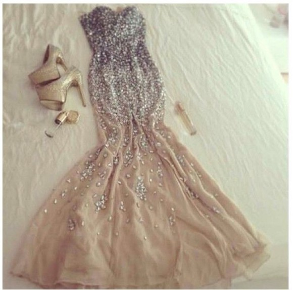 dress prom dress long prom dresses prom dresses sparkle dress gold jewels bling pretty dress prom gown evening gown ball gown