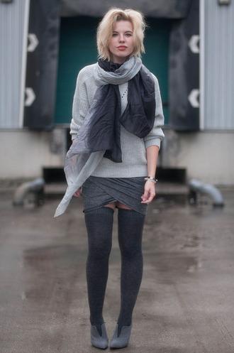 blogger skirt red reiding hood scarf