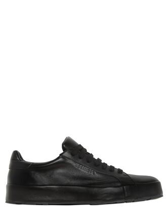 sneakers platform sneakers leather black shoes