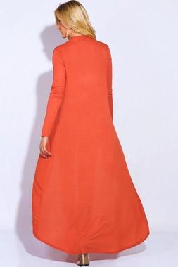 Burnt orange maxi cardigan